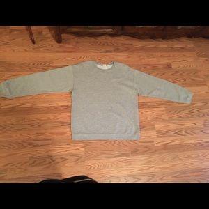 Grey Hanes premium medium fleece pullover